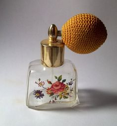 Vintage Italian Hand Painted Glass Perfume Bottle by MikoShopLA, oh yes