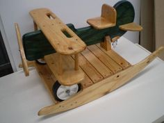 Bi-plane Rocker wooden rocker for children