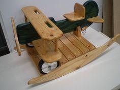 Bi-plane Rocker wooden rocker for children