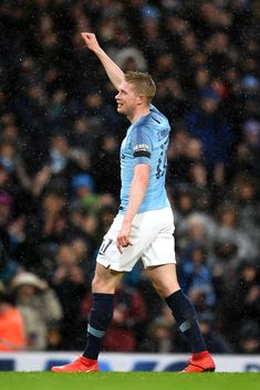 Kevin De Bruyne of Manchester City celebrates after scoring his team's third goal during the FA Cup Fourth Round match between Manchester City and Burnley at Etihad Stadium on January 2019 in. Get premium, high resolution news photos at Getty Images Manchester City, Manchester England, Manchester United, Karbala Photography, Message For Dad, Messi And Ronaldo, January 26, Burnley, Fa Cup