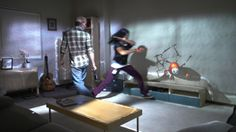 Pairing an Xbox Kinect with projection mapping, Roomalive brings games to life by turning a room into a virtual interactive world. Microsoft, Augmented Reality, Virtual Reality, Fluorescent Light Covers, Proof Of Concept, Projection Mapping, The Next Big Thing, Xbox Games, Research Projects