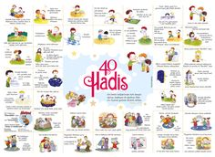 40 Hadith for Çocuklar İçin 40 Hadis 40 Hadith for Children - Ramadan Activities, Educational Activities, Activities For Kids, Hadith, Creative Teaching, Teaching Kids, Islam For Kids, Arabic Lessons, Islamic Studies