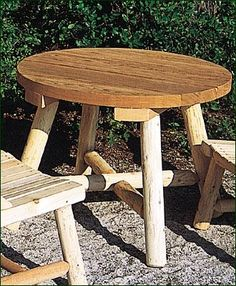 "Child's Bradford Table -  26 1/2"" dia.; 21 1/2"" from floor to table top. Shipped kit."