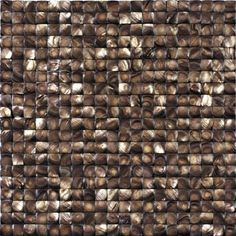 Puccini Natural Stone, Model JM12R, South Pacific Series, Fiji Shell Collection, mosaic pattern, brown
