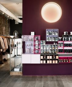 The first thing you see when you walk in the door. A fine selectin of perfume from Perfumerie Generale and skincare from Rudolph Care. Fashion Boutique, Scandinavian, Fashion Online, Skincare, Photo Wall, Retail, Perfume, Luxury, Store