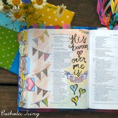 bible journaling- his banner over me is love song of solomon