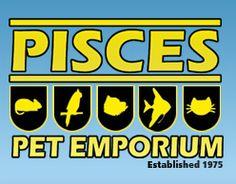 Pisces Pets Emporium 4921 Skyline Way NE, Calgary, Alberta Calgary, Pisces, Skyline, Gems, Logos, School, Gemstones, Fish, Logo