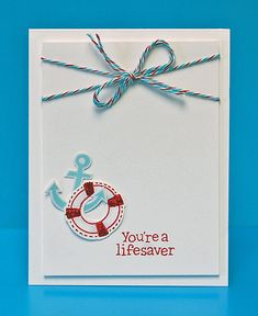 Lawn Fawn - Float My Boat + coordinating dies _ CAS card by Lynnette for Lawn Fawn Design Team, via Flickr