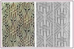 Gallery.ru / 31 - Образцы и схемы узоров спицами (часть 1 - восточные) - HelenaKovgan
