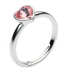 Cute ring for a little girl with a pink heart - make a beautfiul gift for your daughter!