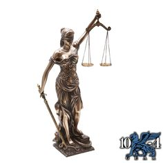 8225 Lady Justice Statue is hand painted with a cold cast resin and has exceptional detail.  Height: 18″