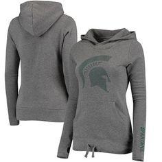 Michigan State Spartans Women's Modern Covina Hoodie - Gray