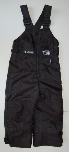 Columbia Snow Pants Tectonite 2 3 Black Reinforced Knees Seat Lined Boys Girls #Columbia #SnowPants