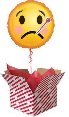 Get Well Emoji Balloon Gift