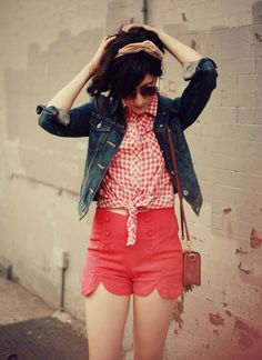 Flashes of Style: Outfit // Americana Summer Outfits, Cute Outfits, Summer Shorts, Sailor Shorts, Fairytale Fashion, Retro, Types Of Fashion Styles, Daily Fashion, Style Me