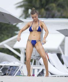 Joanna Krupa in blue bikini. hot polis celebrity and top model at beach