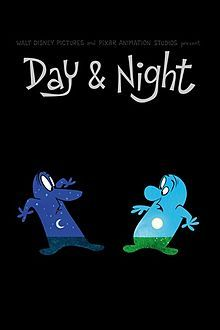 """Pixar's """"Day and Night"""" short film. I used this today for a first grade science lesson on day sky vs. night sky and it was a PERFECT set. It highlights some of the good things about each to get the wheels turning in their head, and the kids really enjoyed it!"""