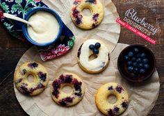 Blueberry Doughnuts with lemon and cream cheese glaze by cindyrahe, via Flickr