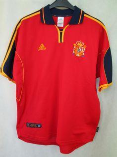 Spain National Football Team FEF 1999/2001 Jersey Adidas sz L (142) #