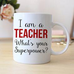 Teacher Coffee Mug  Teacher Gift  Coffee Mug for by JoyfulMoose