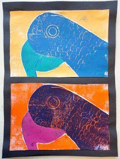 Thomas Elementary Art: 4th Grade Reduction Prints