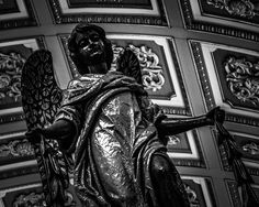 8x10 Black and White Print Close-Up Of A Statue Of by PelliculArt