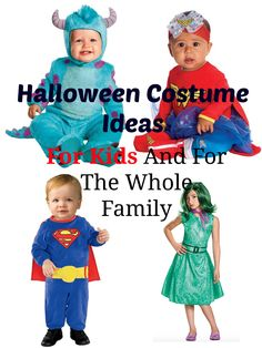 Halloween Costume Ideas for kids and for the whole family. More information on http://www.oneawesomemomma.com/2016/10/11/halloween-costume-ideas-for-kids-and-for-the-whole-family/