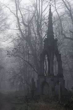 Many setting for Gothic literature took place in a cemetery. This picture also shows emotion and could set the mood for the story. Bow Cemetery- London, opened in Within 50 years a quarter million people were buried here / photo by Duncan George. Spooky Places, Haunted Places, Abandoned Places, Abandoned Houses, Images Terrifiantes, Old Cemeteries, Graveyards, Gothic Aesthetic, Cemetery Art