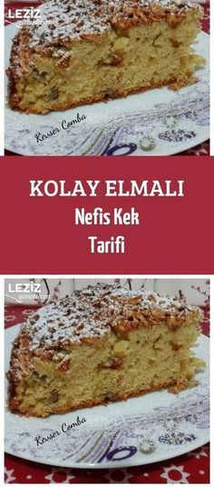 Kolay Elmalı Nefis Kek Tarifi – Leziz Yemeklerim Vejeteryan yemek tarifleri – The Most Practical and Easy Recipes Delicious Cake Recipes, Easy Cake Recipes, Yummy Cakes, Easy Desserts, Yummy Food, Cake Recept, Easy Apple Cake, Best Pie, Apple Pie Recipes