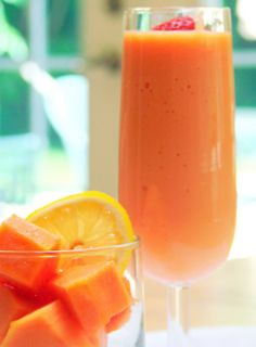 *Delicious! I wanted to try other options. So I added some carrot juice in one smoothie. Another berries and banana. The options are endless here!*  Papaya Smoothie