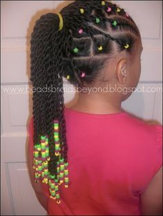 Twists, cornrows, and metallic beads. Hairstyles For The kids ...