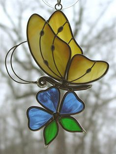 yellow butterfly suncatcher. $17.00, via Etsy.