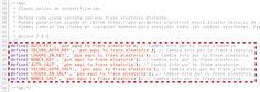 """Un error común que comenten los usuarios que se inician en WordPress durante la famosa """"Instalación de 5 minutos"""", es olvidar la adición de las """"4 Claves de Autenticación"""" y los """"4 Hashings Salts"""" .."""
