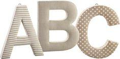 Kids Concept Bokstaver ABC Beige | Innredning På veggen | Jollyroom