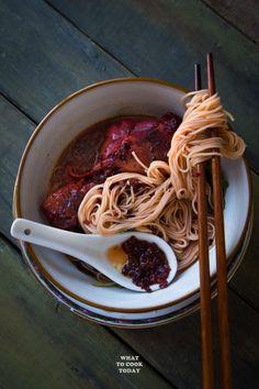 Foochow Red Wine Chicken Mee Sua