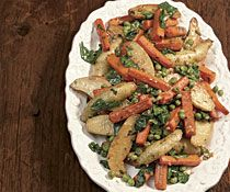 Carrot, Fingerling Potato, and Pea Ragoût