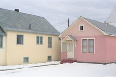 eaglesblood: Skye Nott Princeton, 2010 - (ง Cottages And Bungalows, Small Cottages, Pink Houses, Color Inspiration, Cool Photos, Interesting Photos, Shed, Exterior, Outdoor Structures