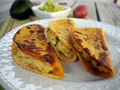 South-of-the-Border Potato Tacos with Avocado Sauce from Vegan Junk Food (0008) by smiteme, via Flickr