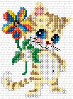 23 Wonderful Blueprints For Small Cross Stitch, Cross Stitch For Kids, Cross Stitch Fabric, Cute Cross Stitch, Cross Stitch Bird, Cross Stitch Animals, Cross Stitch Designs, Cross Stitching, Cross Stitch Embroidery