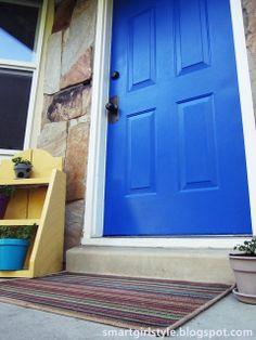 Inspired by bold colors! Cobalt blue front door.