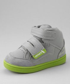Take a look at this Carter's Gray & Green Supreme Hi-Top Sneaker by OshKosh B'gosh & Carter's on #zulily today!