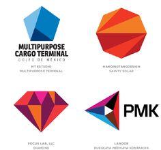 #Logo Trends 2014 #flat facets