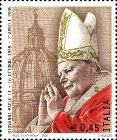 Portrait of Giovanni Paolo II and cupola of st Peter Vintage Stamps, Vintage Cards, Juan Pablo Ii, Postage Stamp Collection, Postage Stamp Art, Pope John Paul Ii, Love Stamps, Tampons, Mail Art