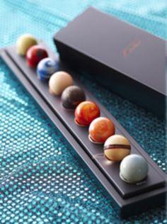 Marbles? Chocolates? Something like that.