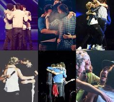 FROM THE FIRST GROUP HUG WITH THE FIVE OF THEM, TO THE LAST ONE WITH FOUR. FEEEEELLLLSSSSS