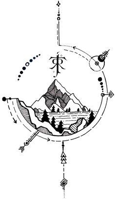 Hobbit Tattoo, Tolkien Tattoo, Lotr Tattoo, Gandalf Tattoo, Ring Tattoos, Body Art Tattoos, Cool Tattoos, Hobbit Art, The Hobbit