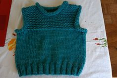 An easy, cozy vest knit in the round in bulky yarn with a garter stitch yoke and rolled finishes for extra warmth and coverage. No seaming and, after the ribbing, no purling! Kids Knitting Patterns, Knitting For Kids, Knitting Designs, Baby Patterns, Crochet Baby, Knit Crochet, Crochet Shoes, Toddler Vest, Baby Cocoon