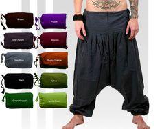 Men's Harem Pants Plain Aladdin Pants Yoga Pants by manaKAmana