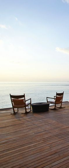 Sunset on the deck: Maldives