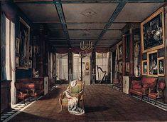 Malmaison Le salon de musique en 1812 Chateau De Malmaison, La Malmaison, Shops, Auguste, Close Image, Painting, Art, France, Music
